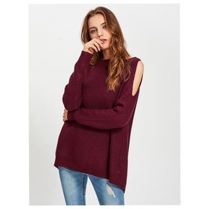 Sweaters - Textured Cutout Sweater